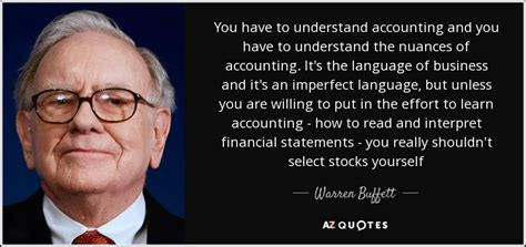 warren buffett quote    understand accounting
