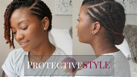 easy flat twist protective style natural hair youtube