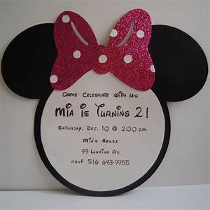Gallery DIY Minnie Mouse Invitation With Real Bow Free ...