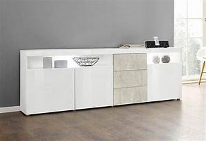 Sideboard Weiß 200 Cm : borchardt m bel sideboard kapstadt breite 200 cm mit 3 schubk sten online kaufen otto ~ Markanthonyermac.com Haus und Dekorationen