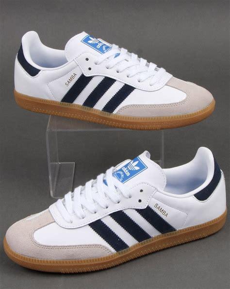 Adidas Samba Og Trainers White/Navy - Adidas At 80s Casual ...