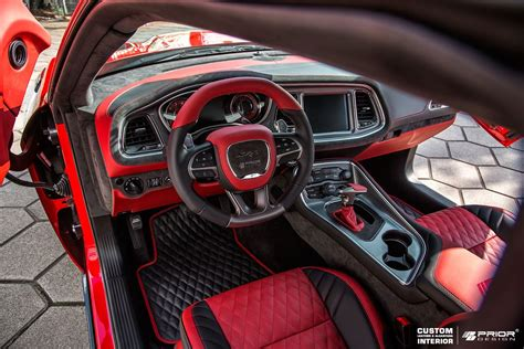 dodge challenger custom interior presenting hellcat s ascetic interior reworked by prior
