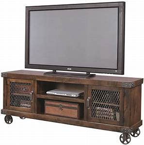 """Aspenhome Industrial DN1074-TOB 74"""" Console with 2 Doors"""