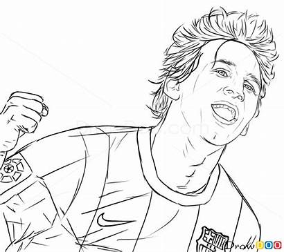 Messi Lionel Coloring Pages Drawing Draw Celebrities