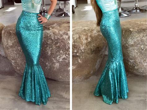 High Waist Sexy Sequin Mermaid Skirt Costume Classic Mermaid