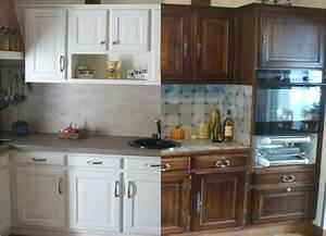 Cuisine Avant Après : meuble repeint avant apres ~ Voncanada.com Idées de Décoration