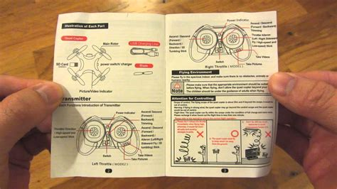 cheerson cx  drone  instruction manual page  page youtube
