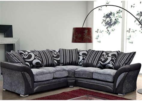 Black And Gray Sofa by Farrow Corner Sofa Armchair Faux Leather Fabric Black