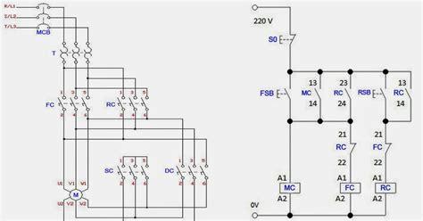 forward 3 phase ac motor wiring diagram