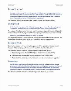 statement of work template apple iwork pages With how to write a statement of work template