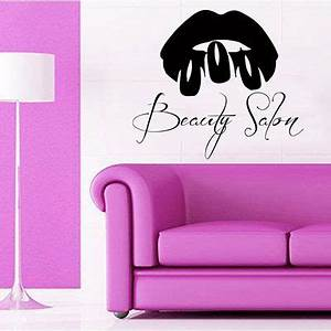 Best 25 nail salon decor ideas on pinterest beauty for Best brand of paint for kitchen cabinets with stair wall art stickers