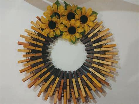 spring  clothespins wreath decor  diy crafts  friends