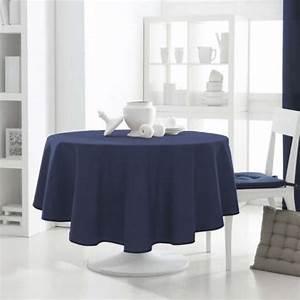Nappe Bleu Marine : nappe ronde bleu marine les ustensiles de cuisine ~ Teatrodelosmanantiales.com Idées de Décoration