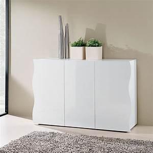 Mobile bianco 3 ante onda laccato bianco lucido larghezza for Mobile bianco laccato