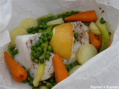 recette de cuisine avec pomme de terre papillote de poisson aux petits légumes