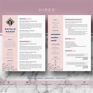 creative resume template for ms word quotnataliequot hired With creative resume template word