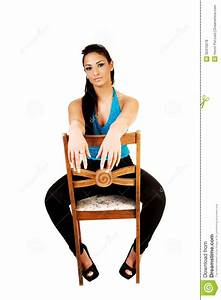 Girl Sitting On Chair. Royalty Free Stock Photos - Image ...