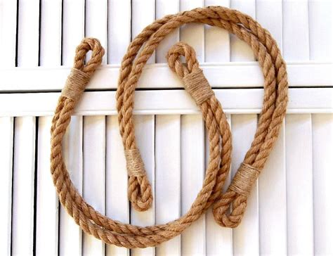 Rope Drapery Tiebacks by Two Rope Curtain Tie Backs Rustic Jute Tiebacks Drapery