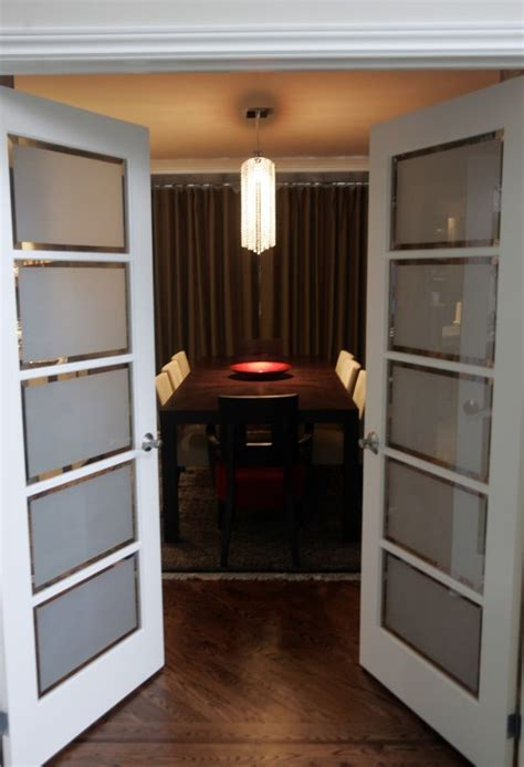 master bedroom interior doors with frosted glass