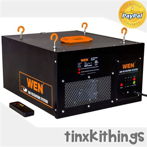 wood work shop air filter system remote control ceiling