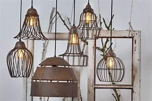 Shabby Chic Lampen : h ngelampe landhaus shabby chic vintage kupfer rost bronze draht metall in m bel wohnen ~ Orissabook.com Haus und Dekorationen