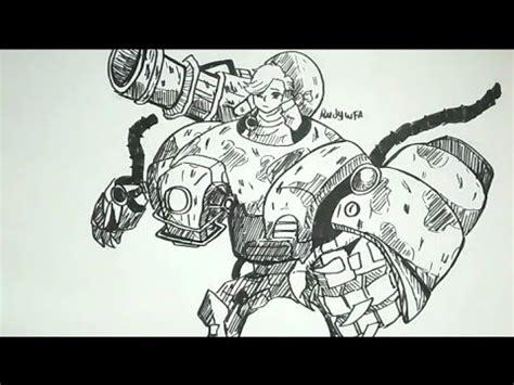 menggambar jawhead hero mobile legends   draw