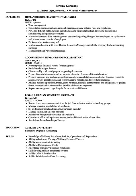 Human Resources Assistant Resume by Human Resource Assistant Resume Sles Velvet
