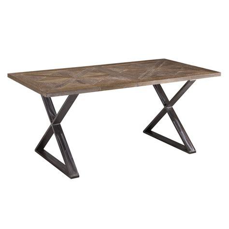 tavolo ferro legno tavolo fisso industriale con gambe ad x in ferro e piano