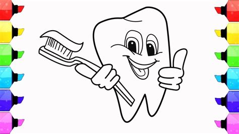 Toothbrush And Toothpaste Coloring Page Coloring Pages Of Toothbrushes Best Image Of Coloring