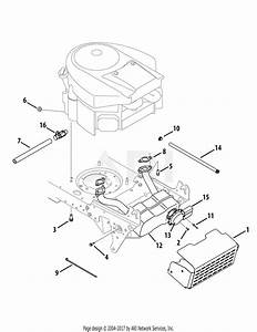 Mtd 14aa815k004  2008  Parts Diagram For Engine Accessories