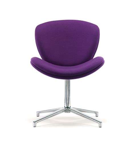 slite upholstered visitor chair on swivel base chairs