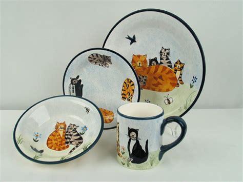cat dinnerware set  piece