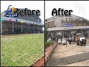 Visuals Of Vizag Airport : Before & After Cyclone Hudhud ...