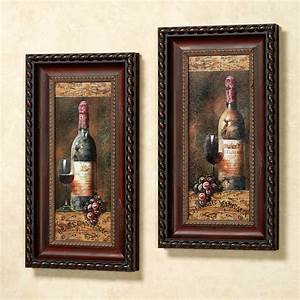 wine, collection, framed, wall, art, set