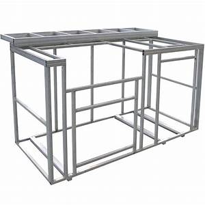 cal flame 6 ft outdoor kitchen island frame kit with With outdoor kitchen frame