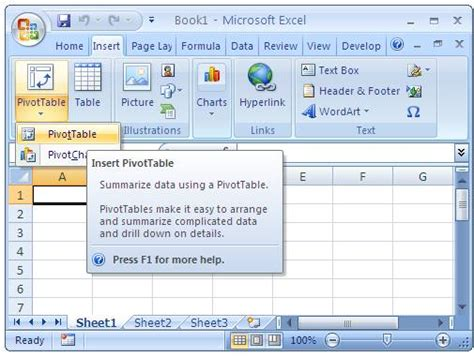 excel spreadsheet pivot table olap cube in excel and pivot table from external data