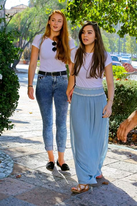 Sophie Turner and Hailee Steinfeld - Out in Malibu ...