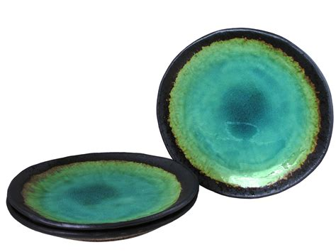 cuisine turquoise turquoise sky and earth japanese ceramic dishes set for three