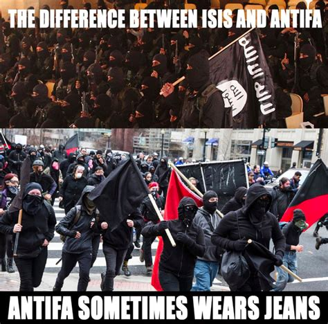 Antifa Memes - the difference between isis antifa magicmemes