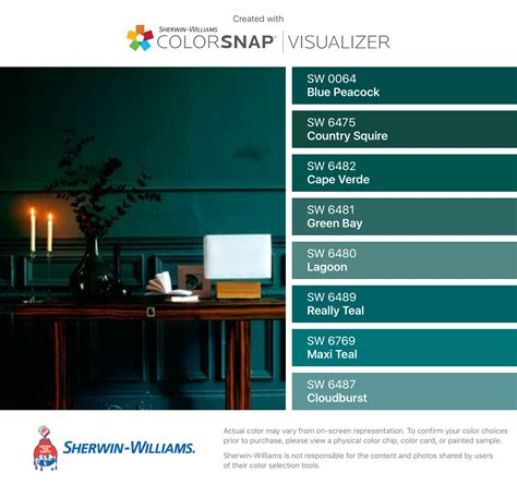 i found these colors with colorsnap 174 visualizer for iphone by sherwin williams blue peacock sw
