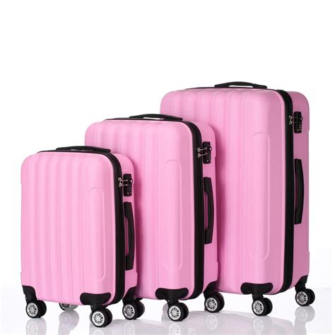 Ktaxon - 3 PCS Luggage Travel Set Bag ABS Trolley Hard ...