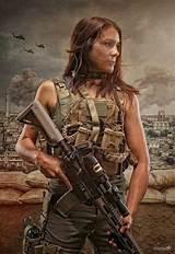 Sexy women in military gear