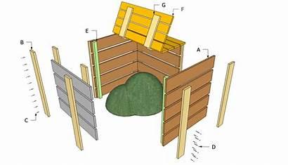 Compost Bin Fai Plans Compostiera Te Costruire