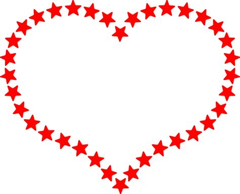 red heart outline border clipart   cliparts