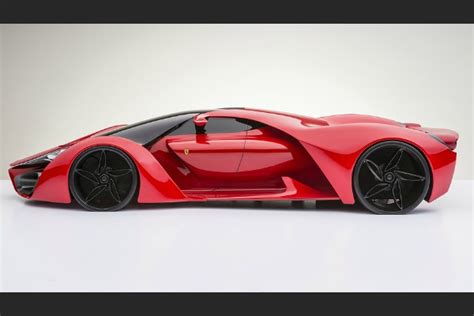 In fact, at a speed of just 130 km/h (81 mph), the downforce is equal in magnitude to the weight of the car. FERRARI F 80 CONCEPT - Luxury Topics luxury portal