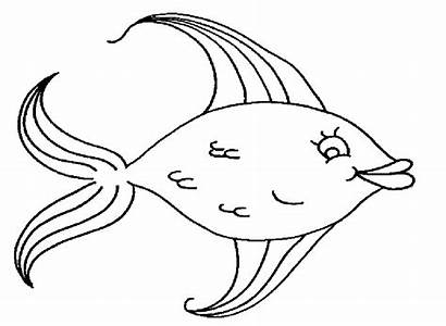 Fish Coloring Pages Tropical Printable Template Rainbow