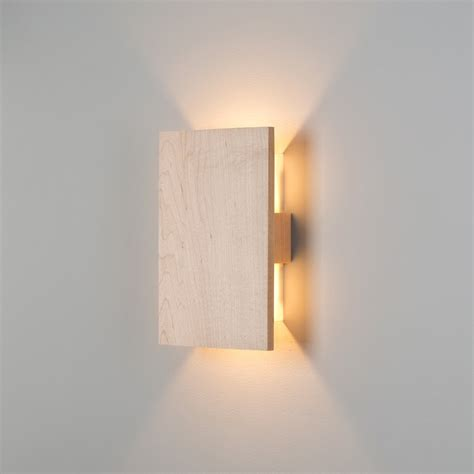 cool wireless wall sconce wood materials and flat design
