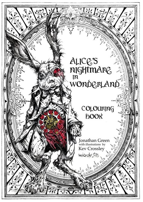 alice s nightmare in wonderland colouring book 13