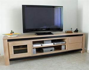 Meuble Tv Chene Massif Moderne : meuble tv meubles et arts liffolois ~ Teatrodelosmanantiales.com Idées de Décoration