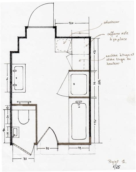 Plan Salle De Bains  Idées Déco Salle De Bain